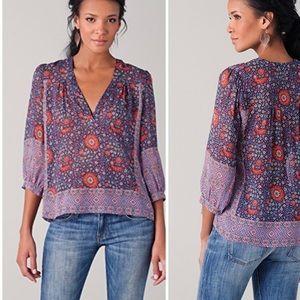 Joie Silk Frazier Blouse Shirt